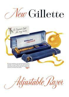 Retro Ads, Vintage Ads, Shaving Supplies, Old Commercials, Blue Tips, Wet Shaving, Safety Razor, Poster Prints, D1