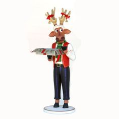 FUNNY REINDEER MALE WITH CHRISTMAS BOX MaterialResin Size6.00 Length (cm)62.00 Width (cm)62.00 Height (cm)162.00 Length (inch)24.41 Width (inch)24.41 Height (inch)63.78 CBM0.62 Weight (kg)28.00