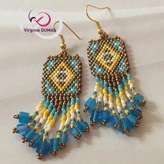 Instagram Fringe Earrings, Drop Earrings, Miyuki Beads, Brick Stitch Earrings, Beautiful Earrings, Seed Beads, Instagram, Jewelry, Handmade