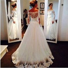 High quality wedding dress,lace wedding dress,mermaid wedding dress,long-sleeves wedding dress w25