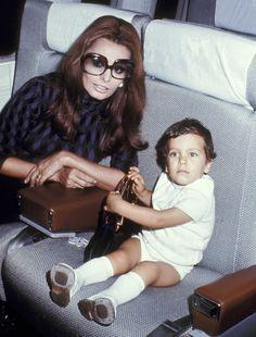 1970 - TownandCountrymag.com Sofia Loren and son.