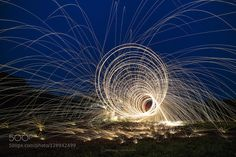 Steel Wool Vortex Steelwool photography is fun but when you find a couple of abandoned Royal navy helicopters then it's time to play! Even though this vortex is cool there is actually a helicopter behind it.  you can see it if you look carefully.