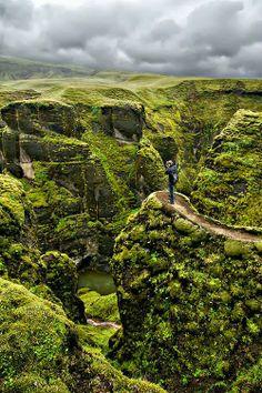 Fjaðrárgljúfur Canyon in Iceland