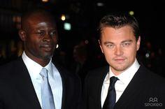 Leonardo DiCaprio and Djimon Hounsou The UK premiere of 'Blood Diamond' - Arrivals Odeon Leicester Square