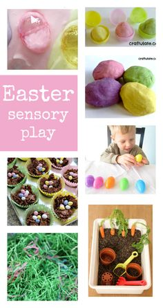 simple Easter sensory play ideas, spring sensory play