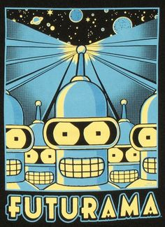 Futurama Bender Poster T Shirt