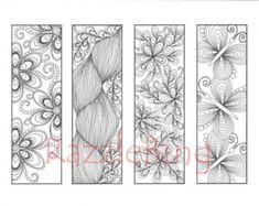 DIY Bookmark Printable Coloring Page-Zentangle por RazzleBing