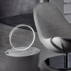 Q-Ring LED Tischleuchte Ø30 cm / Chrom 47243