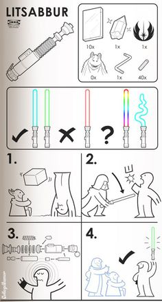 This is hilarious to me, cause IKEA instructions are one of my favorite things in the world. Then they added Star Wars.
