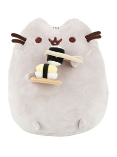 <p>Pusheen has excellent sushi etiquette and impeccable chopstick skills…