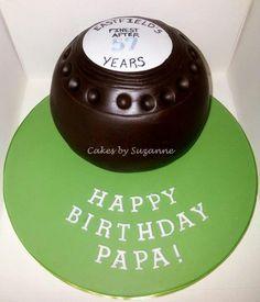 lawn bowls cake  for grandpa