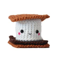 Handmade plush smore toy. This would be the perfect addition to our all crochet play good set!!!