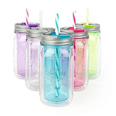 Cool Gear® Double Wall Mason Jars at Big Lots. Cool Gear, Tumbler Cups, Household Items, Party Planning, Mason Jars, Water Bottle, Homemade, Make It Yourself, Big