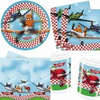 Disney Planes Complete Party Set For 8 Guests Plates Cups Napkins Tablecover