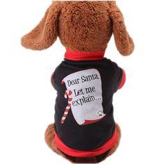 Youarekingandreg Christmas Sweetie Dog Coat Xmas Dog Clothes Dog Jumpsuit Soft Cozy Pet Clothes Pet Sweater ** Awesome dog product. Click the image : Dog sweaters