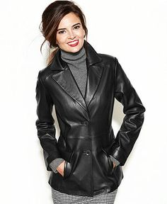 Black Leather Classic Blazer For Women | Longman &amp Eagle