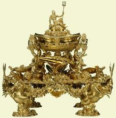 The Neptune Centre piece  was a combined effort by these  Goldsmiths  Paul Crispin  Nicholas Sprimont Paul De Lamerie and his group of Hugugenot Workers & most likely the Maynard Master