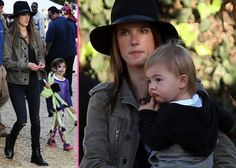 Alessandra Ambrosio Takes the Family to Mr. Bones