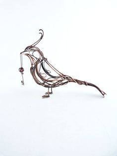 Tutorial diy project pdf tutorial wire wrapped sculpture dragon art figurine copper bird with garnet key sculpture wire sculpture table decor gift for her gift for him greentooth Image collections