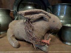 Primitive Folk Art Easter Bunny Rabbit #NaivePrimitive