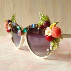 Vintage Quirky Rhinestone and Fruit Sunglasses. $78.00, via Etsy.