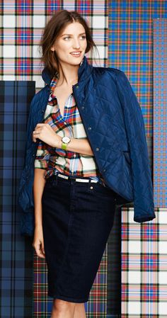 Lands' End Presents the Tartan Collection Fall 2014: Denim and Plaid