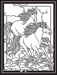 Welcome to Dover Publications Creative Haven Wild Horses Stained
