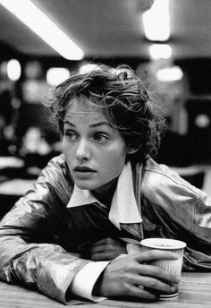 "Amber Valletta in ""Angel"" by Peter Lindbergh for Harper's Bazaar December 1993"