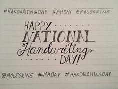 6th Creativity Challenge: Handwriting Day 2015 - Happy National Handwriting Day!