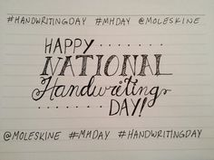 6th Creativity Challenge: Handwriting Day 2015 - Happy National Handwriting Day!