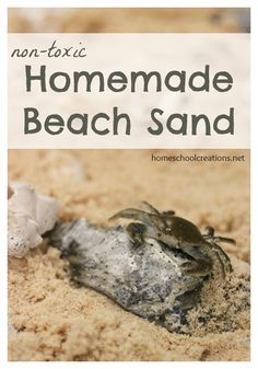 Homemade beach sand that requires only TWO ingredients and is non-toxic for children. Quick and easy to make!