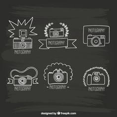 Hand drawn cameras Free Vector