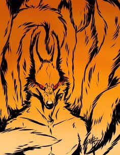 Kurama by MayhWolf on DeviantArt Naruto Sharingan, Sasuke, Naruto Uzumaki Shippuden, Boruto, Naruto Art, Anime Naruto, Baby Kurama, Nine Tailed Fox, Shuriken