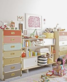 Bright Spots: Colorful Kids' Rooms from Across the Web....Love olive and lucy room for lyla