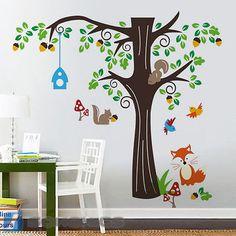 Marvelous Wandtattoo Wandsticker XXL Deko Tiere Kinder Affe Kinderzimmer Wald Baum Amazon de K che u Haushalt Wandaufkleber Pinterest Deko