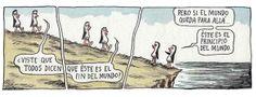 Uma questão de ponto de vista (Tirinha do Liniers).
