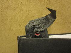 Grichels leather bookmark - black with red eye Small Things, Lovely Things, Leather Bookmarks, Red Eyes, Interesting Stuff, Making Out, Black Leather, Diy, Bloodshot Eyes