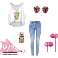 A fashion look from September 2015 featuring G-Star jeans, Converse sneakers and Christian Dior sunglasses. Browse and shop related looks.