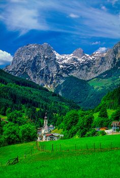 Ramsau, Bavaria, Germany. The hills are alive with the sound of music...