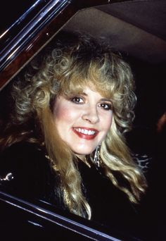 Stevie ~ ☆♥❤♥☆ ~ smiling broadly, photographed in a car, 1988