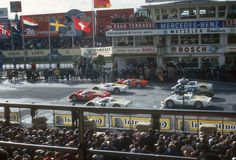 Grid of a sportscar race in 1966 – I think it's a support race of the German Grand Prix