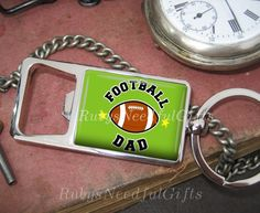 Bottle Opener, Bottle Opener Keyring, keyring, Key chain, Father's Gift, Football Bottle Opener, Birthday Gift, Football Dad. by RubysNeedfulGifts on Etsy