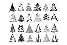 Christmas Tree Sketch, Christmas Doodles, How To Draw Christmas Tree, Watercolor Christmas Tree, Simple Christmas, Christmas Diy, Christmas Letters, Christmas Stuff, Christmas Ornament