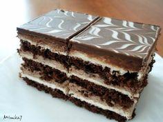Hungarian Desserts, Hungarian Recipes, Cake Bars, Czech Recipes, Ethnic Recipes, Chocolate, Nutella, Sweet Recipes, Tiramisu