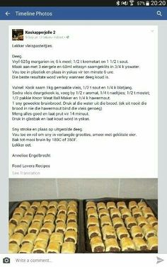 Kos, Quiches, Ma Baker, Recipe Filing, South African Recipes, Savoury Baking, Savory Snacks, Yummy Food, Good Food