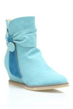 Maker's Shoes Cali 3 Booties In Aqua & Teal
