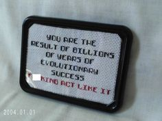 Mature Evolution Funny Snarky Cross Stitch by SnarkyLittleStitcher Cross Stitching, Cross Stitch Embroidery, Cross Stitch Patterns, Naughty Cross Stitch, Cross Stitch Quotes, Crossstitch, Needle And Thread, Beading Patterns, Funny Needlepoint