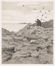 Theodor Kittelsen, «Illustrasjon til Svartedauen, Kristiania 1900»