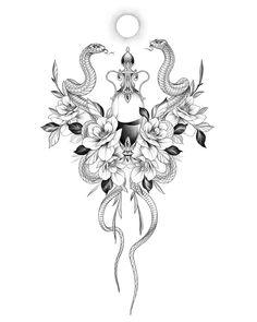Torso Tattoos, Mini Tattoos, Flower Tattoos, Body Art Tattoos, New Tattoos, Tribal Tattoos, Sleeve Tattoos, Sternum Tattoo, Mandala Tattoo