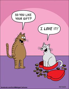 Happy Valentine's Day to all of our human and kitty friends! How true is this hilarious comic by Scott Metzger?! | tuxthedappergent.com